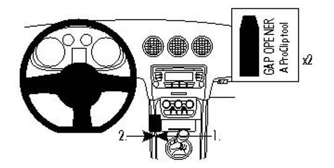 Bilde av Brodit ProClip Console Mount, left - Audi TT