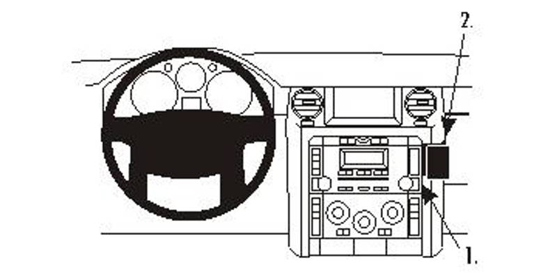 Brodit ProClip Angled mount Land Rover Discovery 3/LR3