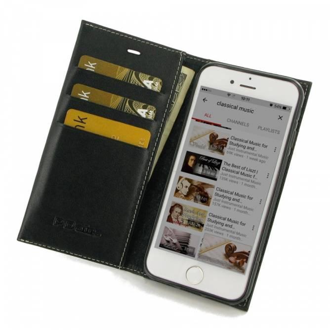 Bilde av Lommebok Skinn Etui - iPhone 8