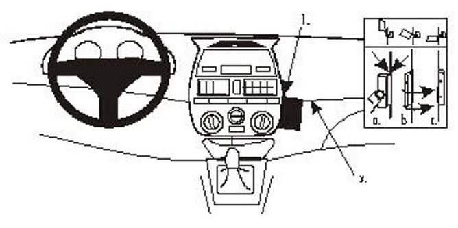 Bilde av Brodit ProClip Angled mount - Fiat