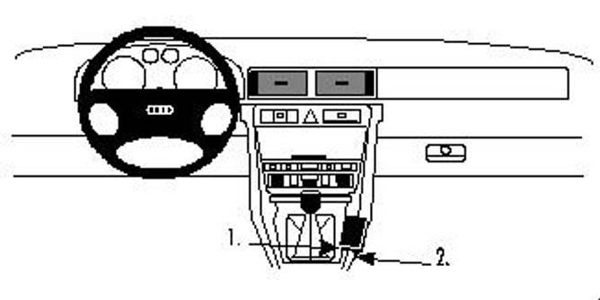 Bilde av Brodit ProClip Console Mount Audi A6/S6 1998-2003