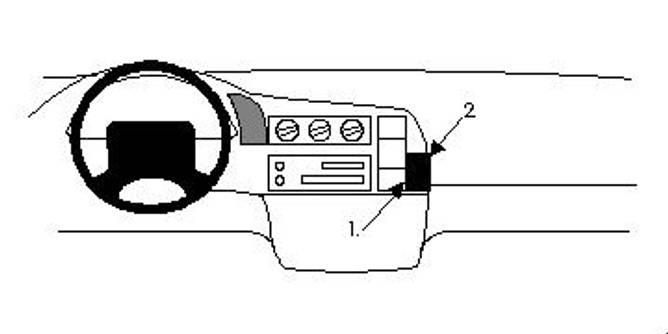 Bilde av Brodit ProClip Angled Mount Chevrolet Astro 96-05
