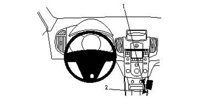 Bilde av Brodit ProClip Console Mount Kia Cerato 10-11
