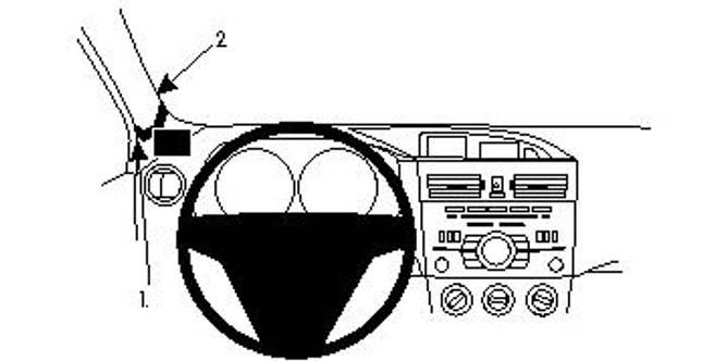 Bilde av Brodit ProClip Left Mount Mazda 3 2010-2013