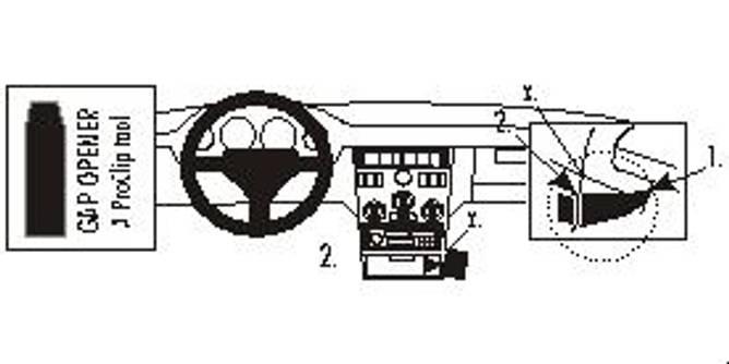 Bilde av Brodit ProClip Angled mount, low - Fiat Coupé