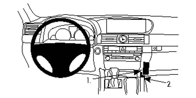 Bilde av Brodit ProClip Console Mount Lexus LS Series