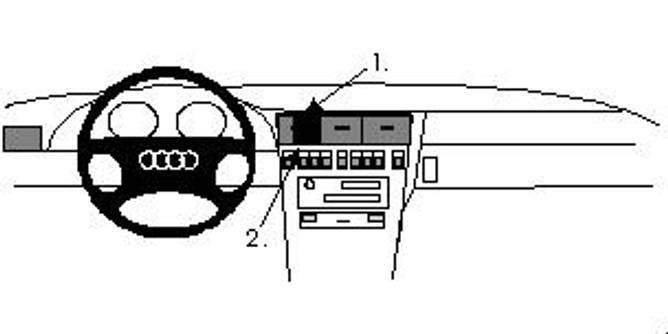 Bilde av Brodit ProClip Center Mount Audi A8/S8 1994-2002