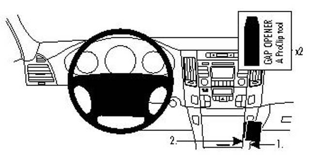 Bilde av Brodit ProClip Angled Mount - Hyundai Sonata