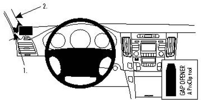 Bilde av Brodit ProClip Left Mount - Hyundai Sonata