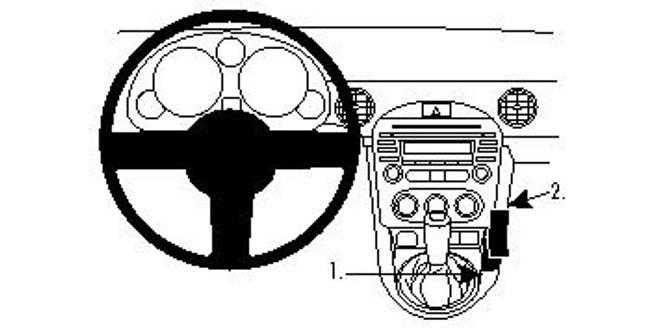 Bilde av Brodit ProClip Console Mount Mazda MX-5/Miata