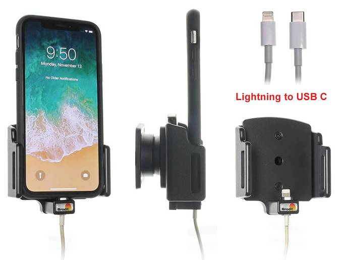 Bilde av BRODIT Holder For Cable Connection Iphone X, Xs,