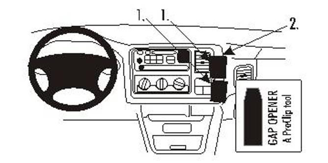 Bilde av Brodit ProClip Angled Mount Chevrolet Multi Model