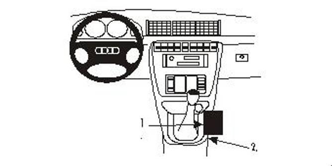 Bilde av Brodit ProClip Console Mount Audi A4/S4 Multi