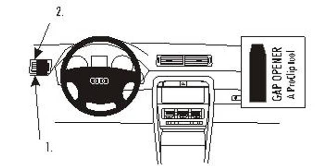 Bilde av Brodit ProClip Left Mount Audi A4/S4 Multi Model