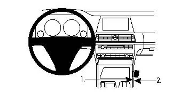 Bilde av Brodit ProClip Console Mount BMW 7-series F01,
