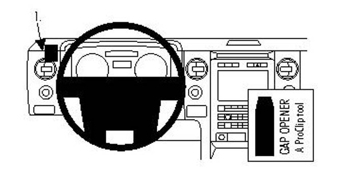 Bilde av Brodit ProClip Angled Mount Ford F-Series 150