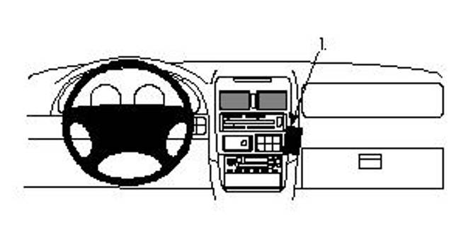 Bilde av Brodit ProClip Angled Mount Mazda MPV 1996-1998