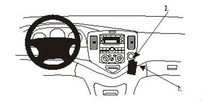 Bilde av Brodit ProClip Angled Mount Mazda MPV 1999-2004
