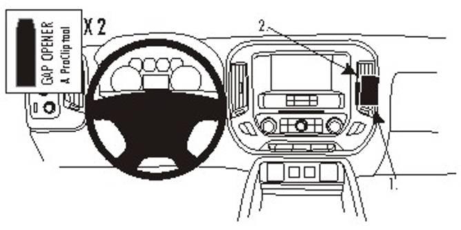 Bilde av Brodit ProClip Angled Mount Chevrolet/GMC Multi