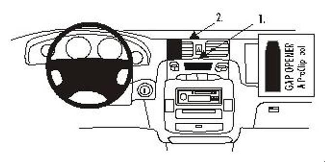 Bilde av Brodit ProClip Center mount - Hyundai Trajet