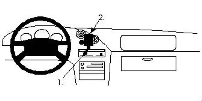 Bilde av Brodit ProClip Center Mount Mazda MX-3 1994-1997