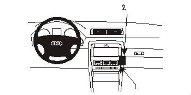 Bilde av Brodit ProClip Angled Mount Audi A4/S4 Cabriolet