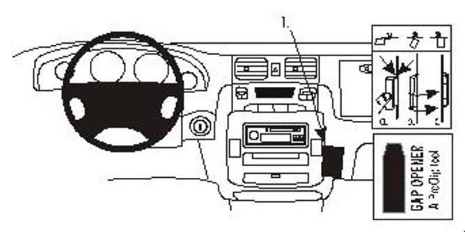 Bilde av Brodit ProClip Angled mount - Hyundai Trajet