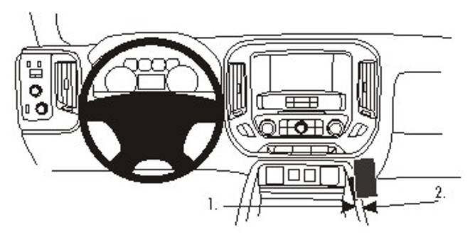 Bilde av Brodit ProClip Console Mount Chevrolet/GMC Multi