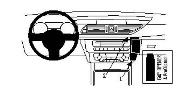 Bilde av Brodit ProClip Angled Mount Audi A6/S6 11-18