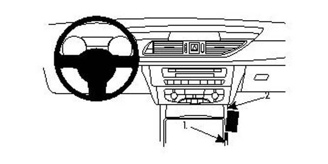 Bilde av Brodit ProClip Console Mount Audi A6/S6/A7 11-18