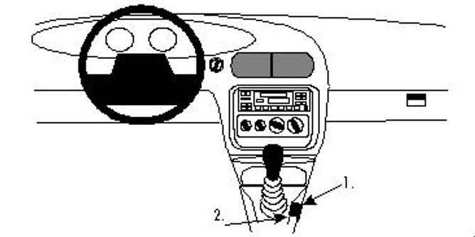 Bilde av Brodit ProClip Console Mount - Chrysler Stratus