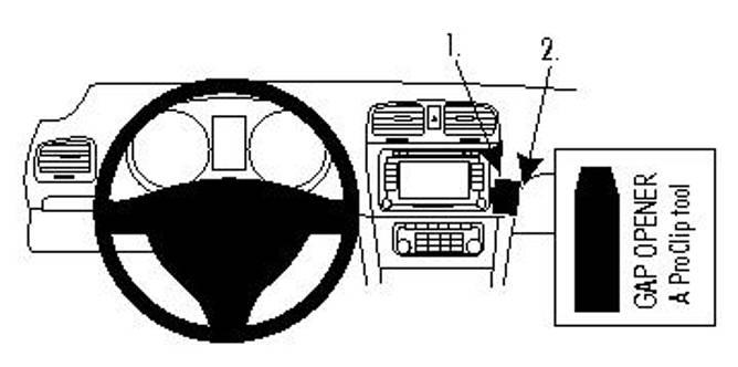 Bilde av Brodit ProClip Angled Mount VW Golf VI/Golf VI