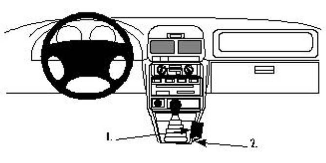 Bilde av Brodit ProClip Console Mount Subaru Multi model