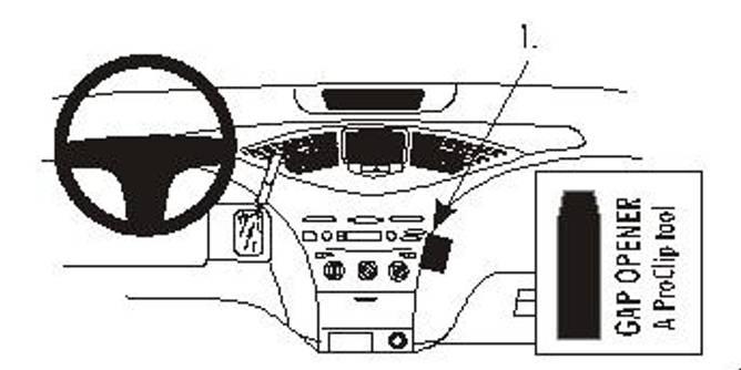 Bilde av Brodit ProClip Angled Mount - Toyota Prius