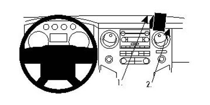 Bilde av Brodit ProClip Angled Mount Ford F-Series Multi