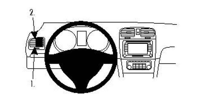 Bilde av Brodit ProClip Left Mount VW Golf VI/Golf VI