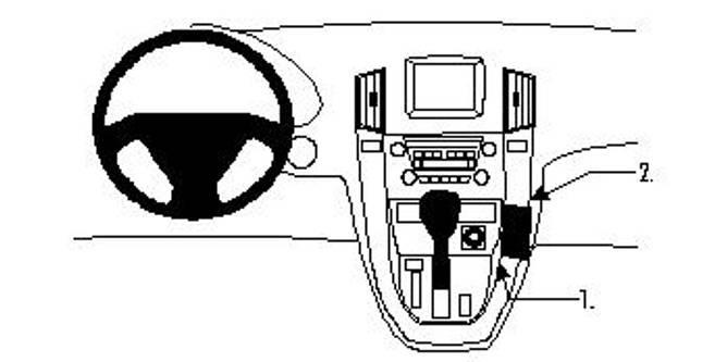 Bilde av Brodit ProClip Angled Mount Lexus RX Series 99-03