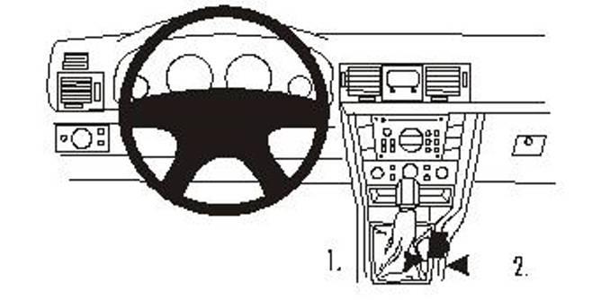 Bilde av Brodit ProClip Console Mount Opel Signum/Vectra C