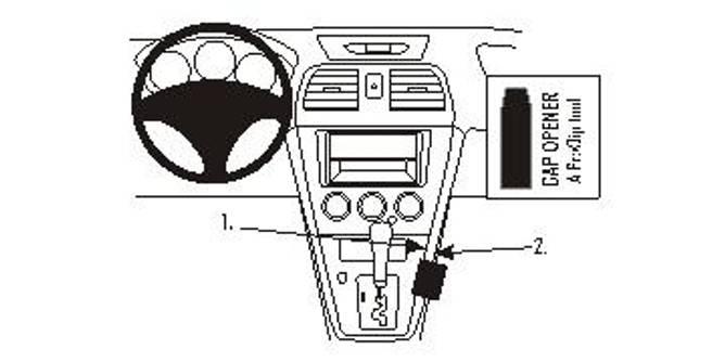 Bilde av Brodit ProClip Console Mount Subaru Impreza