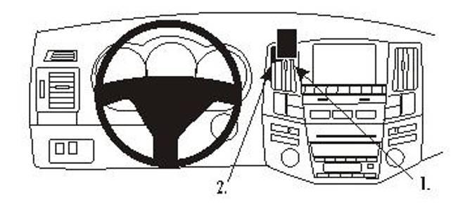 Bilde av Brodit ProClip Center Mount Lexus RX Series 04-09