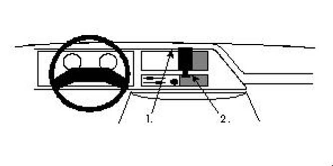 Bilde av Brodit ProClip Center Mount Ford E-Series 87-91