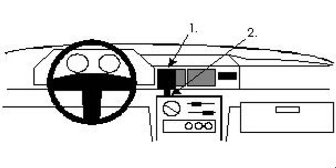 Bilde av Brodit ProClip Center Mount Ford Fiesta 89-95