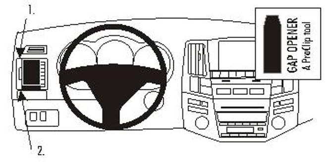Bilde av Brodit ProClip Left Mount Lexus RX Series 04-09