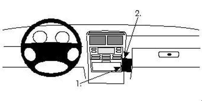 Bilde av Brodit ProClip Angled mount- Lancia Kappa
