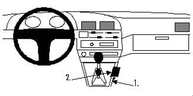 Bilde av Brodit ProClip Console Mount Toyota/VW Multi