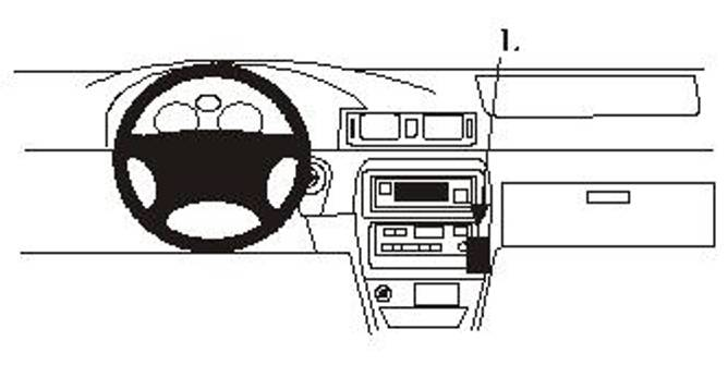 Bilde av Brodit ProClip Angled mount - Toyota Camry