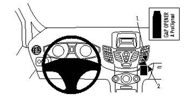 Bilde av Brodit ProClip Angled Mount Ford Fiesta 09-17