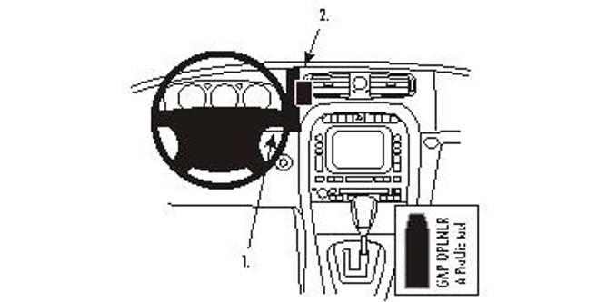 Bilde av Brodit ProClip Center mount - Jaguar XJ 2003-2009