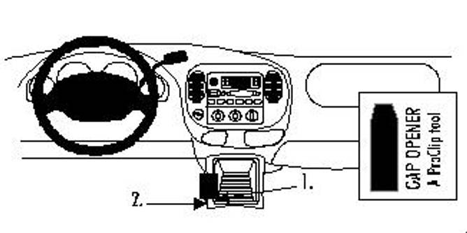 Bilde av Brodit ProClip Console - Ford Expedition/Lincoln