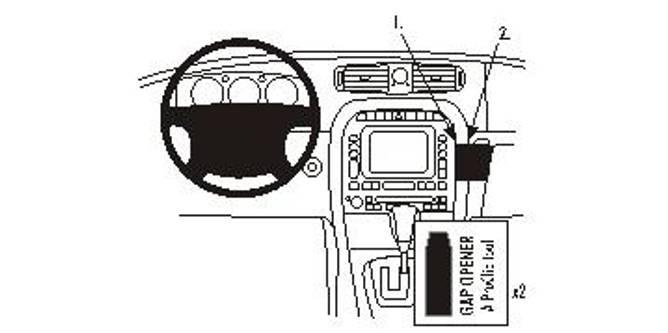 Bilde av Brodit ProClip Angled mount - Jaguar XJ 2003-2009